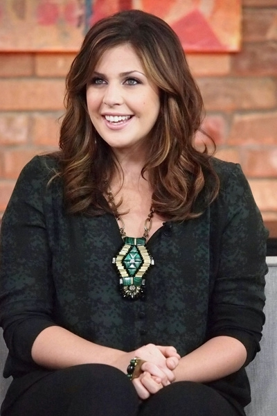Hillary Scott  of band Lady Antebellum appears on The Marilyn Denis Show in promoting their latest album 'Own The Night'.  Toronto, Canada - 21.09.11  Mandatory Credit: Douglas Brown/WENN.com